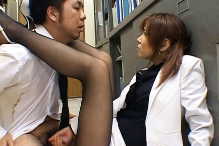 Misaki Inaba Asian babe gets office sex