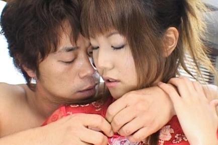 Arika Takarano Asian milf spreads her legs