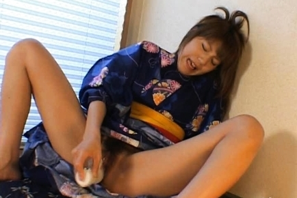 Arika Takarano Asian doll gets a dildo penetration