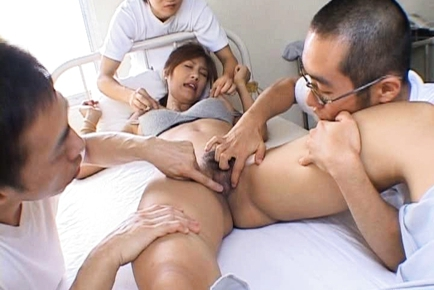 Azusa Ayano Asian milf gets a hot gangbang