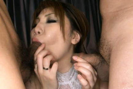 Yuria Kano is a hot Asian babe in hot gangbang action