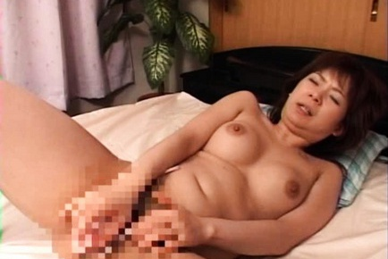 Naughty Asian milf has hot pussy