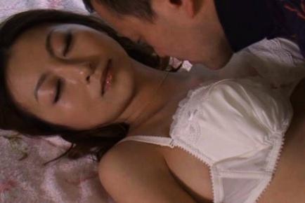 Rei Aoki Asian model has cute sex