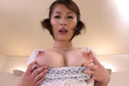 Asian wife Saki Ootsuka sucks and fucks hard