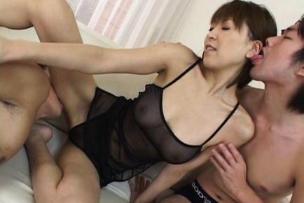 Fine ass babe Jun Kusanagi in gangbang action