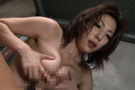 Perfect mature Mirei Yokoyama boob fucks and dick rides for pleasure.