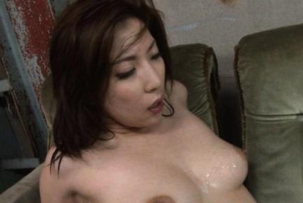 Perfect mature Mirei Yokoyama boob fucks and dick rides for pleasure.