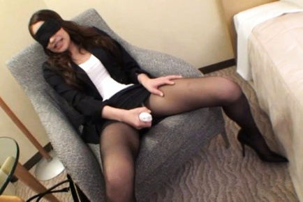 Yuu Kanda in black stockings sucking and fucking hard
