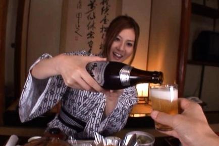 Beautiful Yui Tatsumi sucks cock and fucks hard