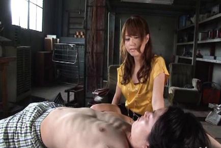Erotic masturabation and jerking off cock Akiho Yoshizawa