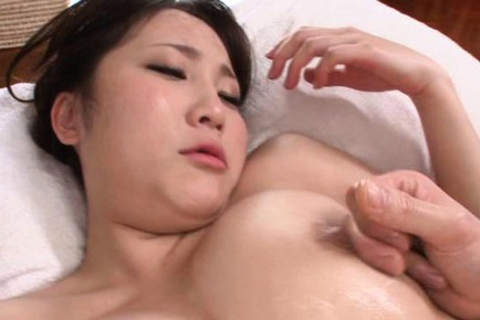 MILF Mao Kurata oiled up to get a rough fucking in her twat