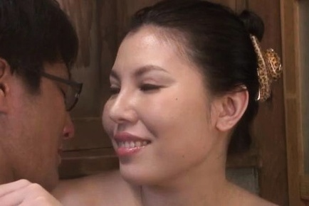 Amazing Japanese sweetie with big tits Sophia Takigawa gets pussy licked