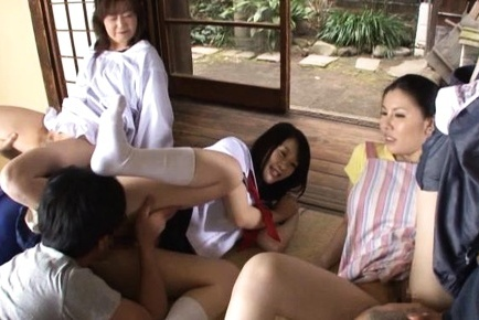 Hot Sophia Takigawa enjoys serious cock in group action