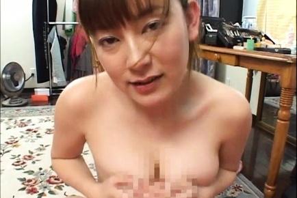 Cute MILF Minami Hoshikawa gives her hubby a nice tit fuck