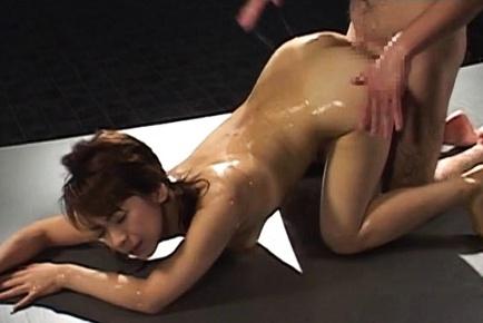 Karen Ichinose fucked deep in her puffy bush